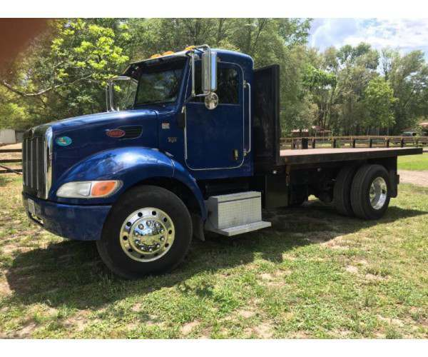2009 Peterbilt 335 Flatbed Dump with 14' flatbed in Florida