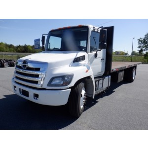 2014 Hino 268 Flatbed Truck
