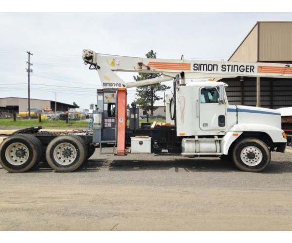 1991 Freightliner FLD120 with 2000 Simon-Ro T2863 Stinger crane truck in Washington, wholesale