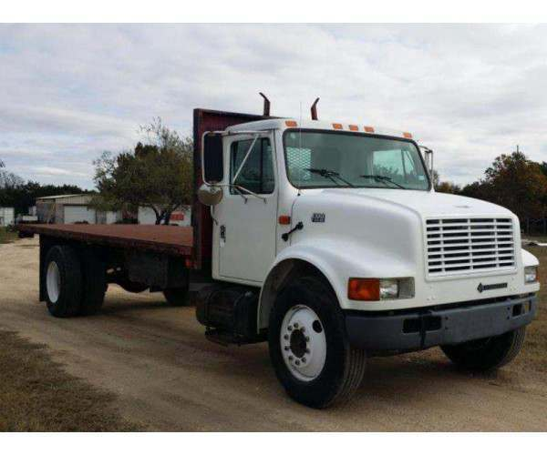 2001 International 4700 Flat Bed Dump 1