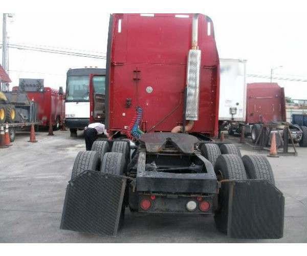 Red 2009 Peterbilt 387 2