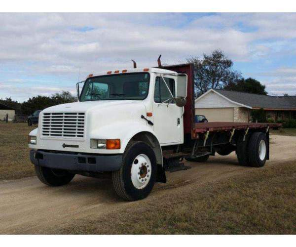 2001 International 4700 Flat Bed Dump 6