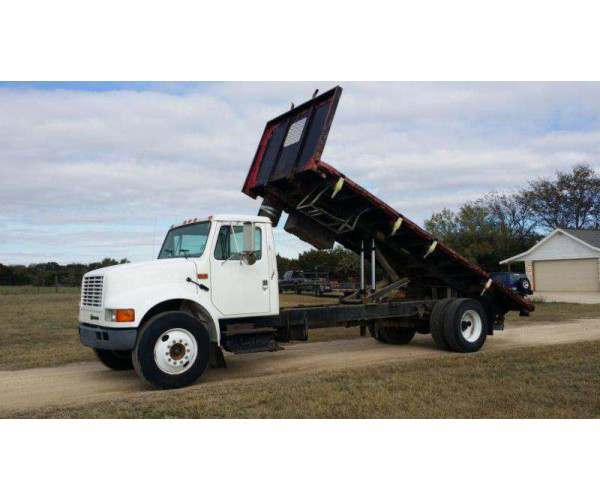 2001 International 4700 Flat Bed Dump 4
