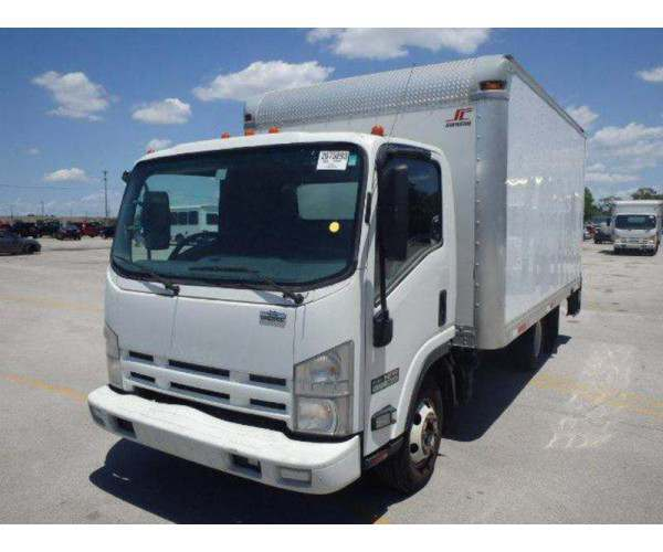 2011 Isuzu NPR Eco Max Box Truck with Isuzu 3.0 diesel engine in Florida, wholesale, ncl truck sales