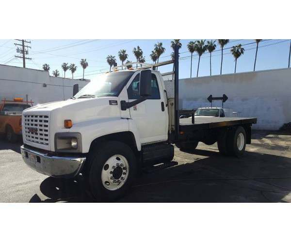 2005 GMC C7500 Flatbed Truck in CA